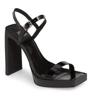 Jeffrey Campbell Danceria 2 Black Patent Sandals